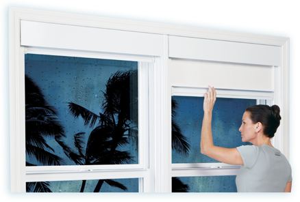 Wisp Windows for hurricane protection